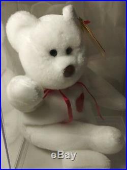 Ty Beanie Babies ULTRA Rare Retired VALENTINO w Tag Error Oriiginal/Surface Wash