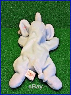 Ty Beanie Baby 1995 Peanut The Elephant Plush Toy RARE NEW RETIRED With Errors