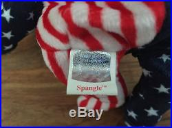 Ty Beanie Baby 1999 Spangle White Face Rare, Swingtag Error, Authentic