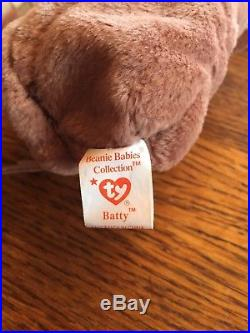 Ty Beanie Baby Batty RARE 1996 errors abound