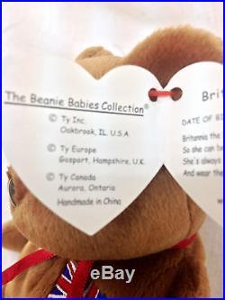 Ty Beanie Baby Britannia Royal Girl Bear 15 December UK Exclusive RARE