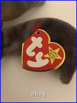 Ty Beanie Baby CLAUDE the Crab with Tag ERRORS Plush Toy RARE PVC RETIRED 1996