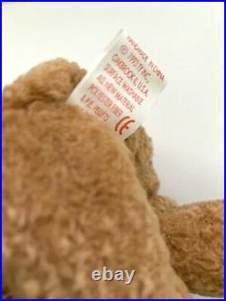 Ty Beanie Baby CURLY Bear RARE MULTIPLE Errors Original Retired 1993/1996