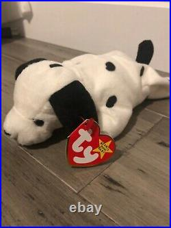 Ty Beanie Baby Dotty The Dog 1996 With Tag Errors Rare