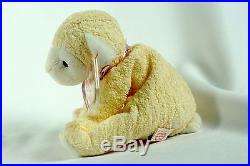 Ty Beanie Baby FLEECIE 2000 Lamb with Tag ERRORS Plush Toy RARE PE NEW RETIRED