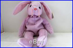 Ty Beanie Baby Floppity Pvc Pell Lilac Very Rare Many Errors