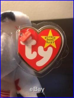 Ty Beanie Baby GLORY the Bear with Tag Errors RARE! DOB 1997