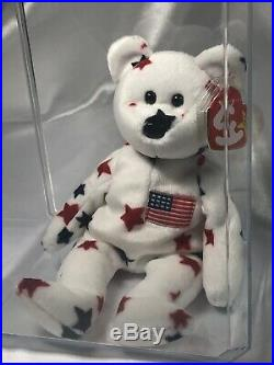 Ty Beanie Baby Glory The Bear-Retired With Tag Errors Rare