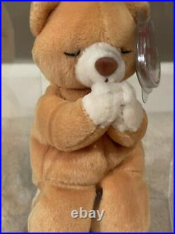 Ty Beanie Baby HOPE Prayer Bear With ALL Tag Errors SUPER RARE 1998 MINT