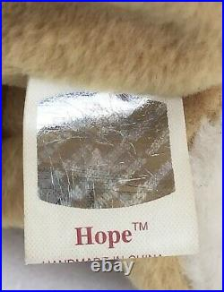 Ty Beanie Baby HOPE Prayer Bear With Tag Errors SUPER RARE 1998 GREAT FIND
