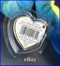 Ty Beanie Baby Hissy Snake Tag ERRORS RARE! New 1997. RETIRED HOT COLLECTABLE