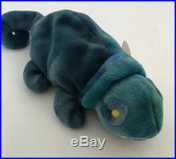Ty Beanie Baby Iggy With Rainbow Tags Rare Hard To Find