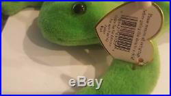 Ty Beanie Baby Legs (Frog 1993), rare, multiple errors