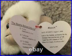 Ty Beanie Baby MOOCH the Monkey Rare retired Tag Errors 1998 Pristine gasport