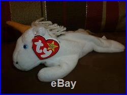 Ty Beanie Baby MYSTIC 1st Gen 4007 TAG Error, PVC Pellets RETIRED RARE