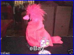 Ty Beanie Baby Mac Cardinal Bird Red China 1999 Error! P. E. Pellets RARE