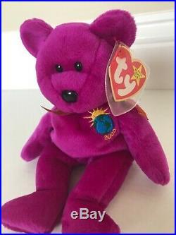 Ty Beanie Baby Millennium 2000 Bear RareRetired