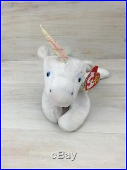 bc7b54264f0 Ty Beanie Baby Mystic Unicorn Rainbow Mane Hair Date Error Tag Rare Plush  Toy