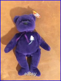 Ty Beanie Baby PRINCESS DIANA Bear 1997 RARE & RETIRED ERRORS