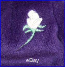 Ty Beanie Baby PRINCESS Diana Bear RARE 1st EDITION! 1997 PVC Pellets! MINT