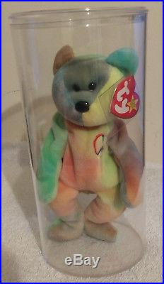 89bedb17571 Ty Beanie Baby-Peace Bear-Multiple Errors-1996-Rare-Retired