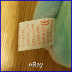 Ty Beanie Baby Peace Bear Original Collectible RARE With Tag Errors