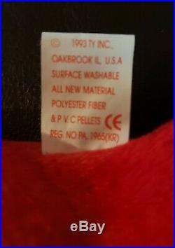 Ty Beanie Baby Pinchers1993, Rare, P. V. C Pellets, Original! 12 Errors