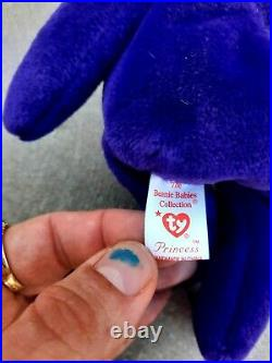 Ty Beanie Baby Princess Diana Bear 1st Edition Ghost Version 1997 MOST RARE
