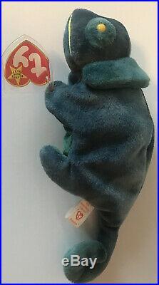 Ty Beanie Baby Rainbow the Chameleon VERY RARE First Run Tag Errors Iggy Fabric