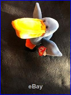 Ty Beanie Baby, SCOOP The Pelican, RETIRED, 1996, Fareham, Hants, RARE
