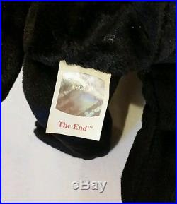 Ty Beanie Baby THE END the Bear 1999 with RARE TAG! , Retired & New