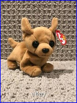 Ty Beanie Baby Tiny the Chihuahua Dog with Errors Rare, excellent condition