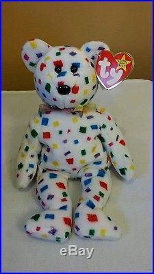 d3b88898292 Ty Beanie Baby Ty 2K the Bear TUSH TAG FLAT RARE 1999