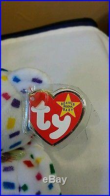 Ty Beanie Baby Ty 2K the Bear TUSH TAG FLAT RARE 1999, PE Retired & New