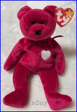 9b15bc68bfc Ty Beanie Baby Valentina Bear With Tag Errors Rare