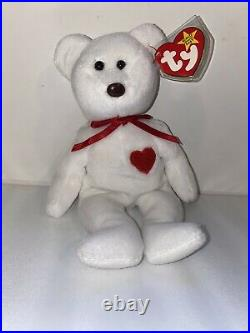 Ty Beanie Baby Valentino Bear 1994 RARE! With Brown Nose! Many Tag Errors
