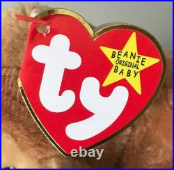 Ty Beanie Baby'bongo' The Monkey Mint Condition Tags Extremely Rare Retired