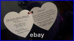 Ty Beanie BabyPrincess Diana Purple Bear 1997 RARE Spring & Summer Time