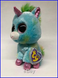 Ty Beanie Boo TREASURE the Blue Unicorn 6 Justice Exclusive MWMT-Rare