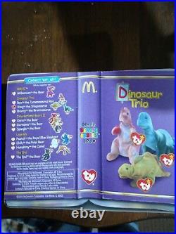 Ty Beanie McDonalds Dinosaur Trio Steg the Stegosaurus 1994 RARE TAG ERRORS