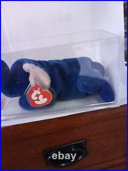 Ty Beanie-peanuts Royal Blue-mq-authenticated-gorgeous Rare Beanie