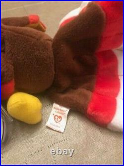 Ty Gobbles Beanie Baby 1996 Rare Retired With Errors (new) Add To Collection