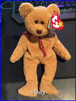 856173fe5ae Ty ORIGINAL Beanie Baby CURLY BEAR MINT Condition RARE Retired Tag Errors