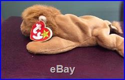 Ty Original Beanie Baby 1996 Roary With Errors! Very Rare