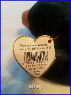 Ty Original Beanie Baby BLACKIE with Multiple Errors RARE! 1993/1994 PVC