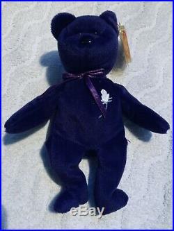 Ty Original Bear Princess Diana 1997 Retired Beanie Baby Rare Errors pls read
