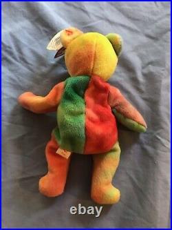 Ty Peace Bear Beanie Baby 1996 Rare With Errors! Unbelievable! 1965kr Nwt