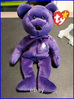 Ty Princess Diana Beanie Baby Bear 1997 RARE Original Beanie withPellets MINT