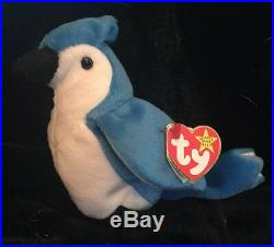 Ty Rocket Retired Beanie Baby With Ultra Rare Errors Blue Jay
