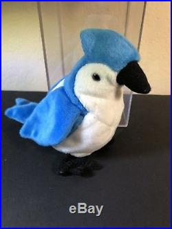 Ty Rocket Retired Beanie Baby With VERY RARE Errors Blue Jay COLLECTABLE NEW